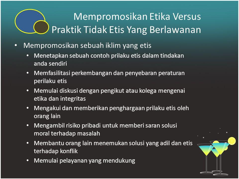 Mempromosikan Etika Versus Praktik Tidak Etis Yang Berlawanan