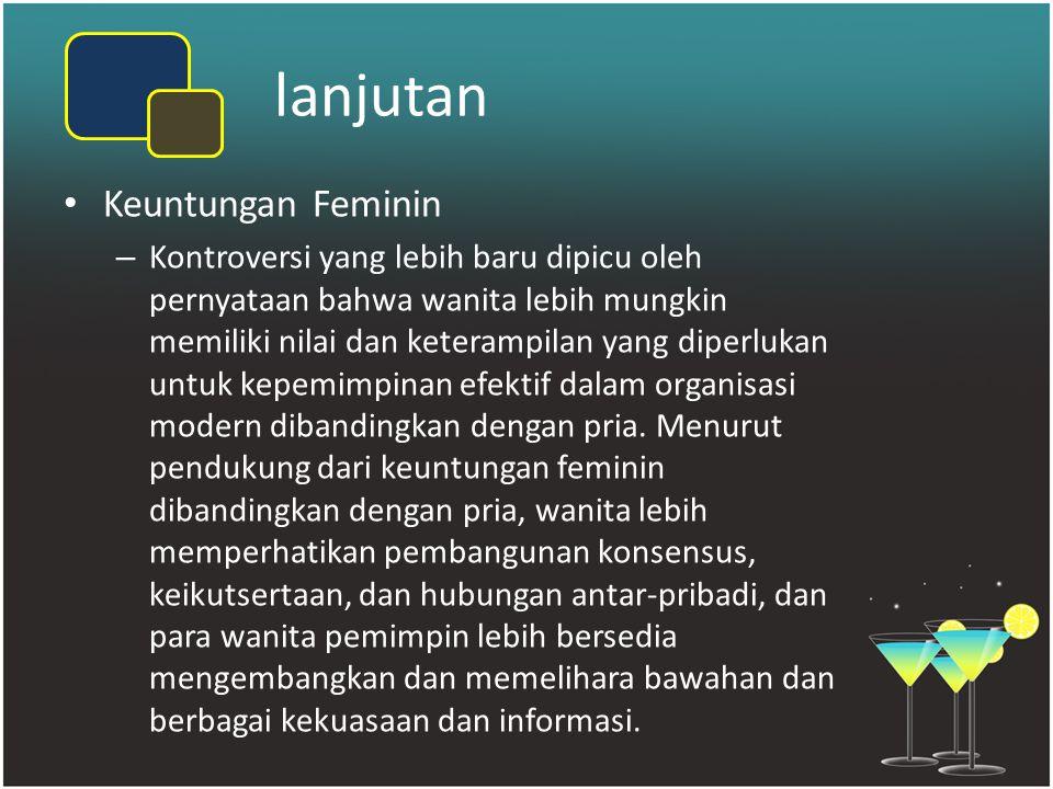 lanjutan Keuntungan Feminin