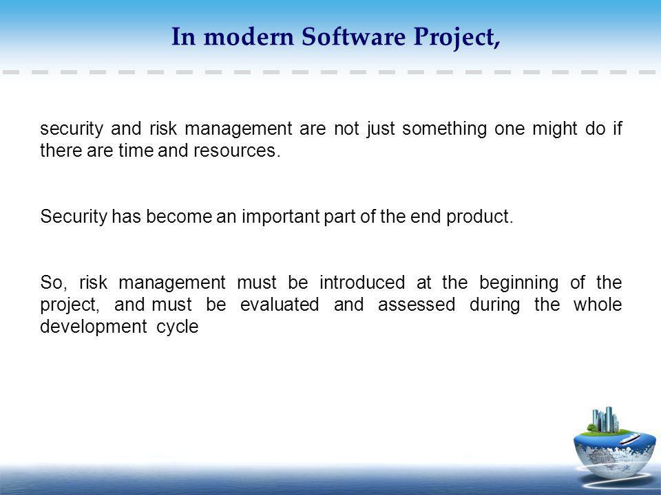 In modern Software Project,