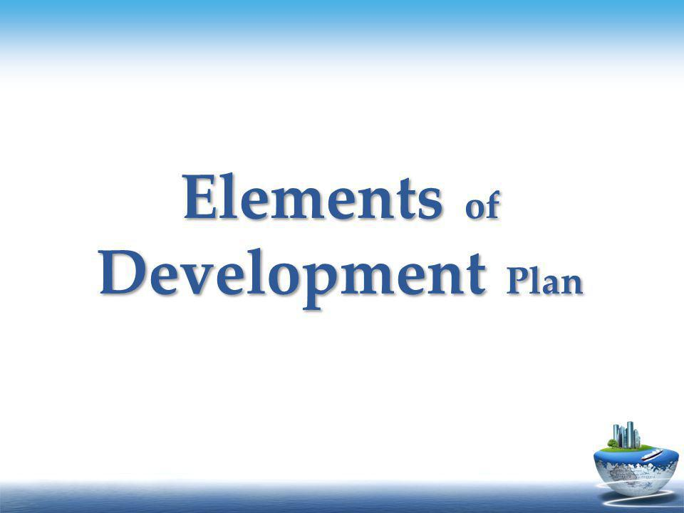 Elements of Development Plan