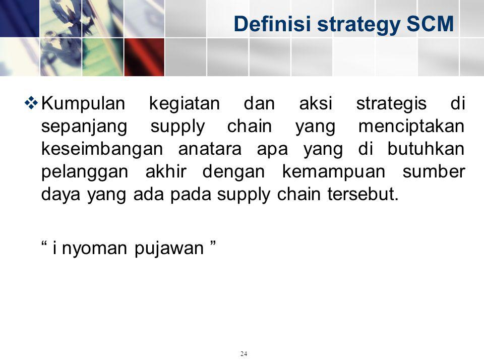 Definisi strategy SCM