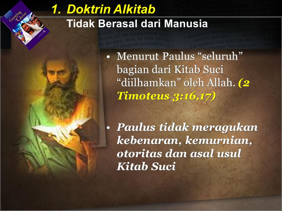 Doktrin Alkitab Tidak Berasal dari Manusia