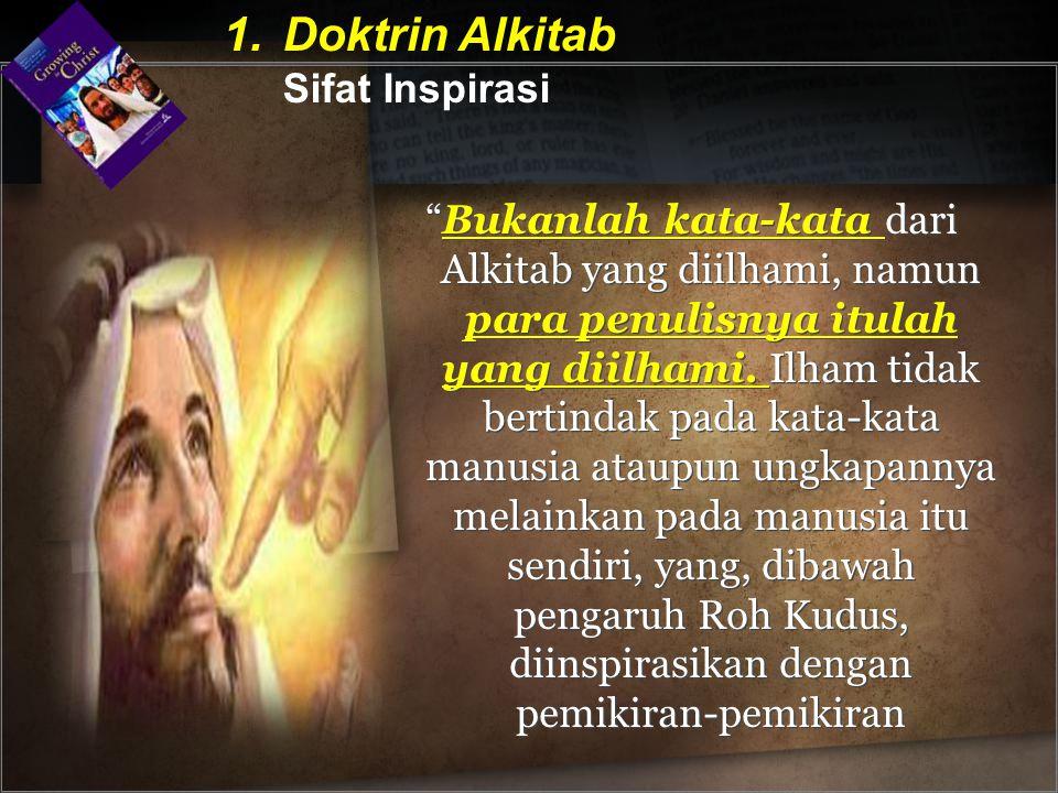 Doktrin Alkitab Sifat Inspirasi