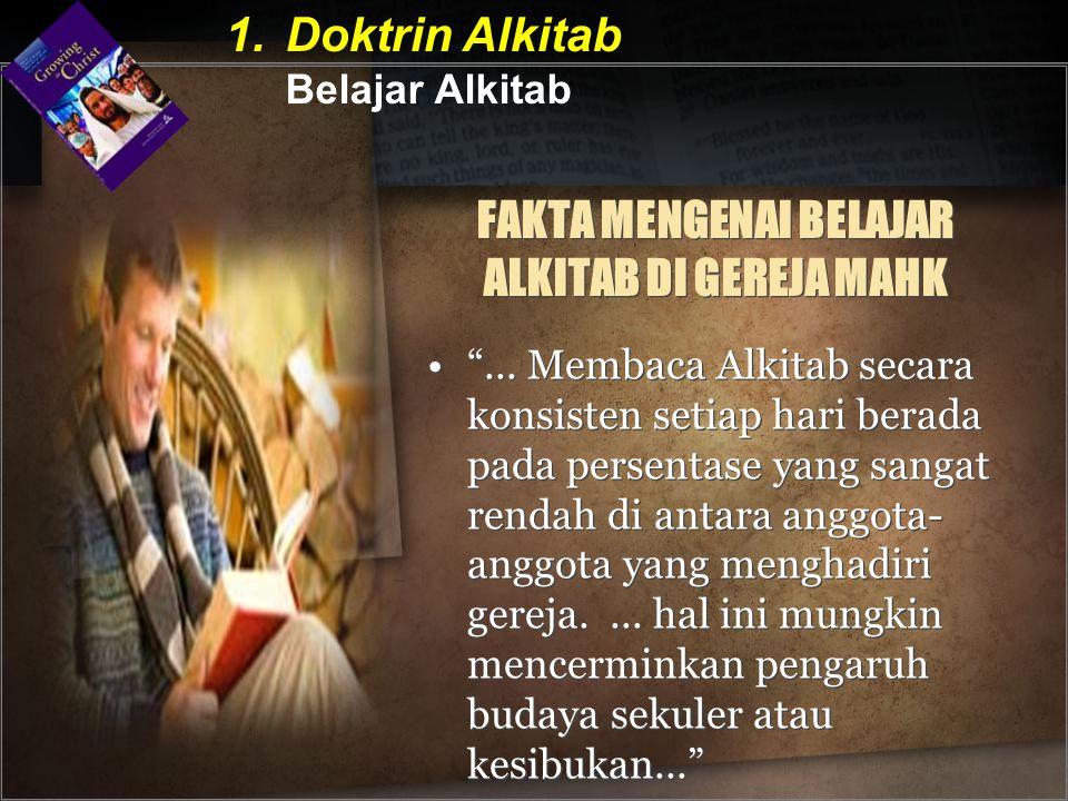 FAKTA MENGENAI BELAJAR ALKITAB DI GEREJA MAHK