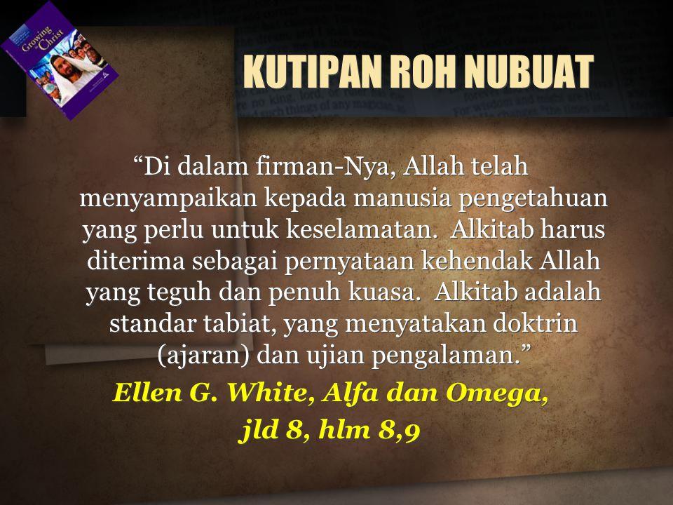 Ellen G. White, Alfa dan Omega,