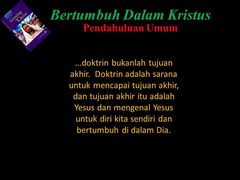 Bertumbuh Dalam Kristus