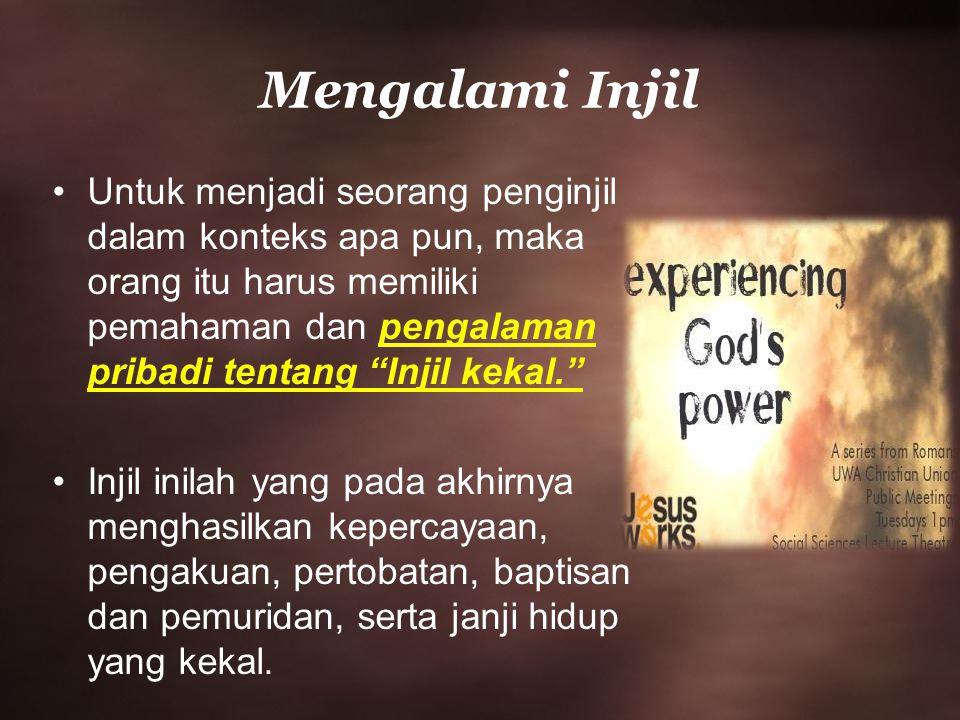 Mengalami Injil