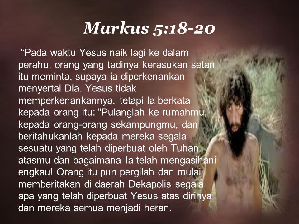 Markus 5:18-20