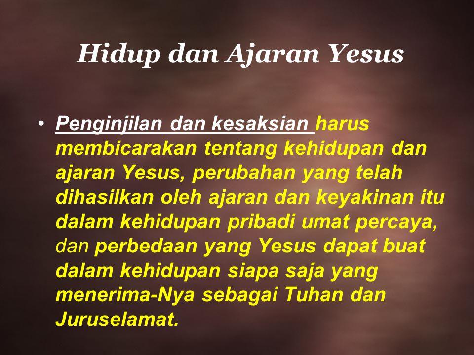 Hidup dan Ajaran Yesus
