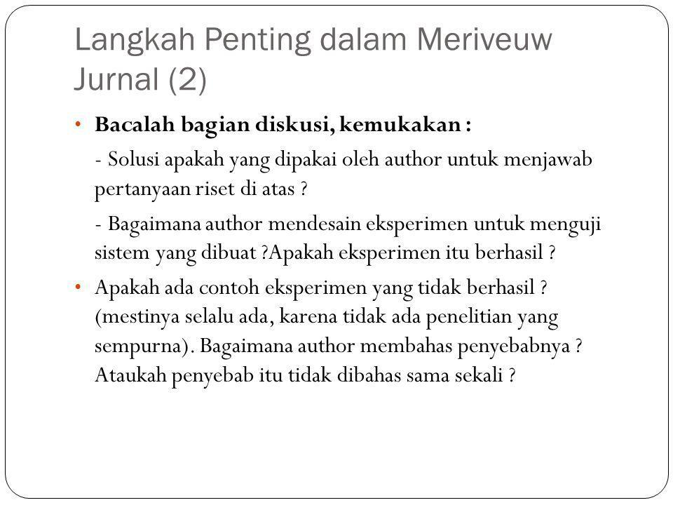 Langkah Penting dalam Meriveuw Jurnal (2)