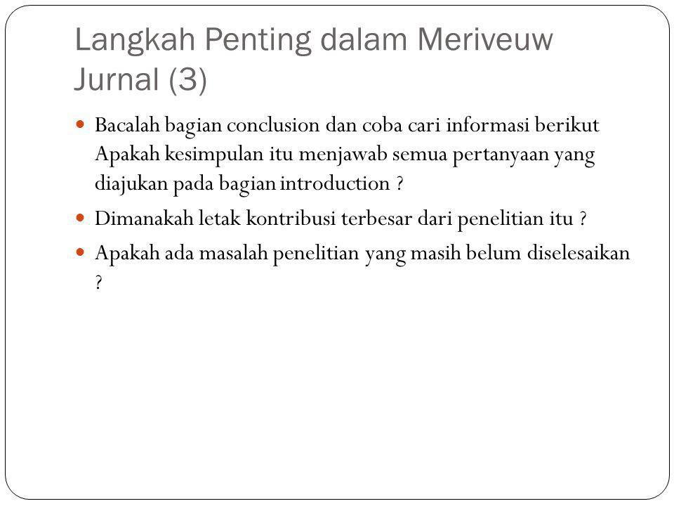 Langkah Penting dalam Meriveuw Jurnal (3)