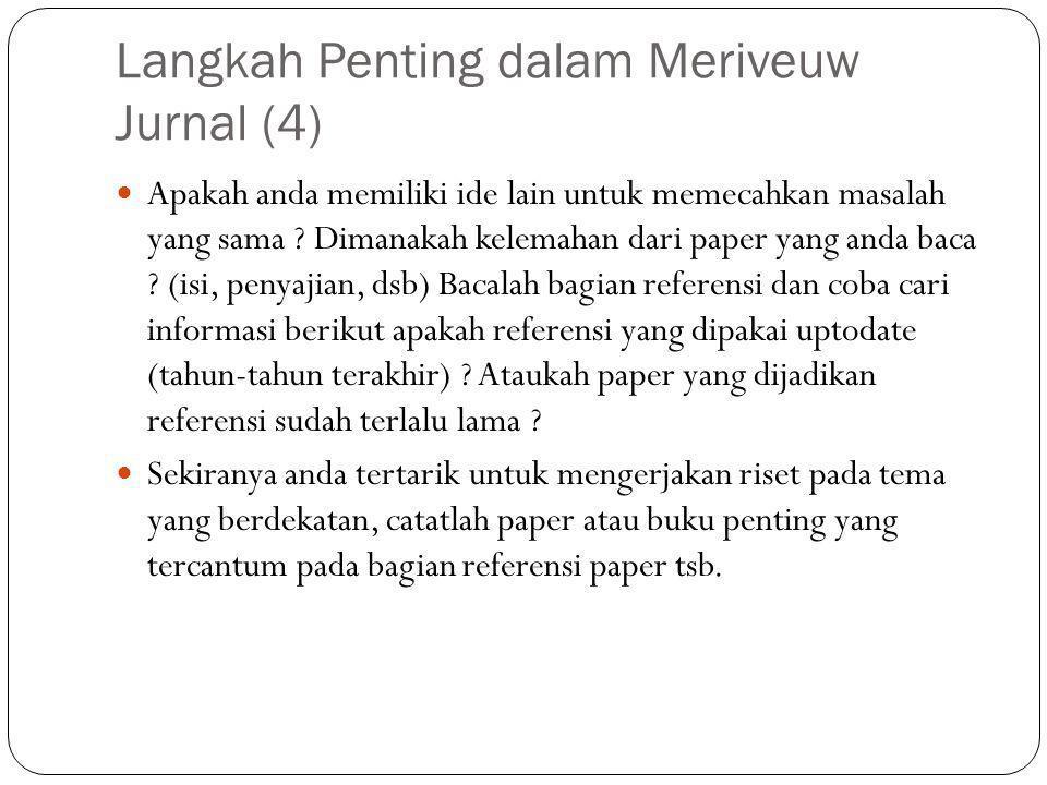 Langkah Penting dalam Meriveuw Jurnal (4)