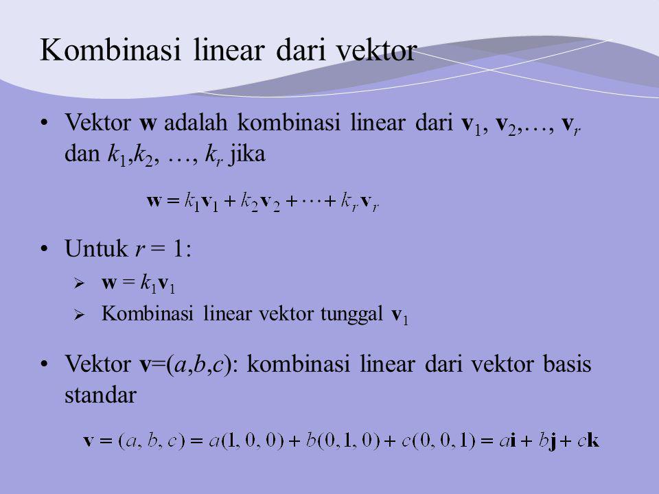 Kombinasi linear dari vektor