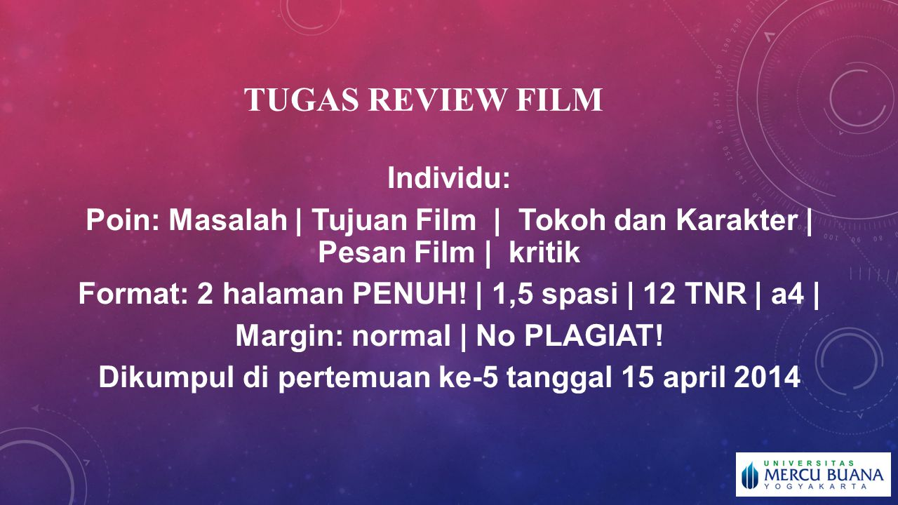 TUGAS REVIEW FILM Individu:
