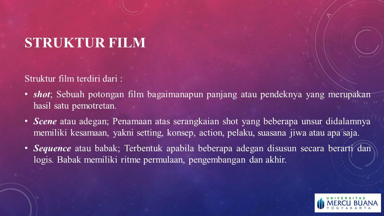 STRUKTUR FILM Struktur film terdiri dari :