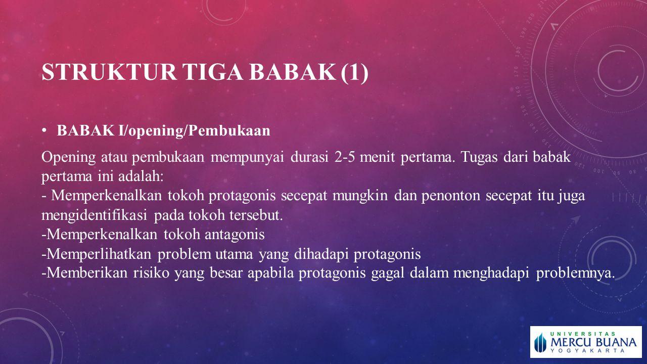 Struktur tiga babak (1) BABAK I/opening/Pembukaan