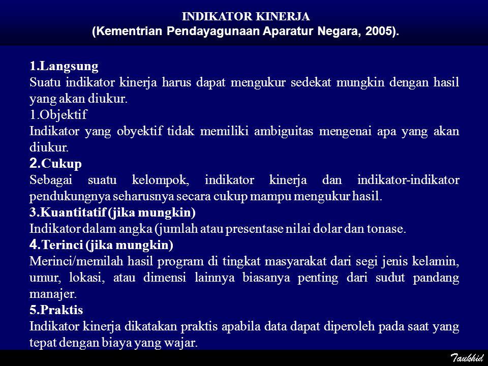 (Kementrian Pendayagunaan Aparatur Negara, 2005).
