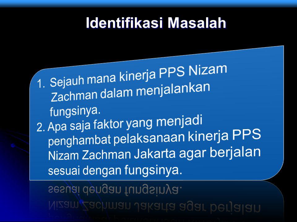 Identifikasi Masalah Sejauh mana kinerja PPS Nizam