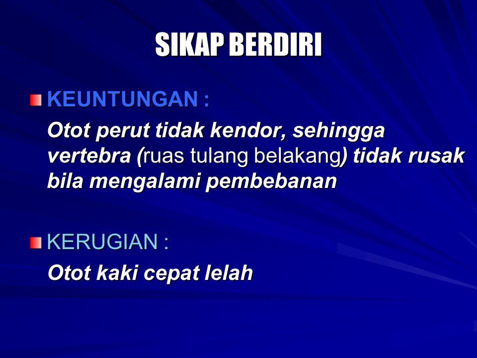 SIKAP BERDIRI KEUNTUNGAN :