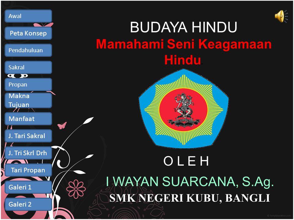BUDAYA HINDU Mamahami Seni Keagamaan Hindu.