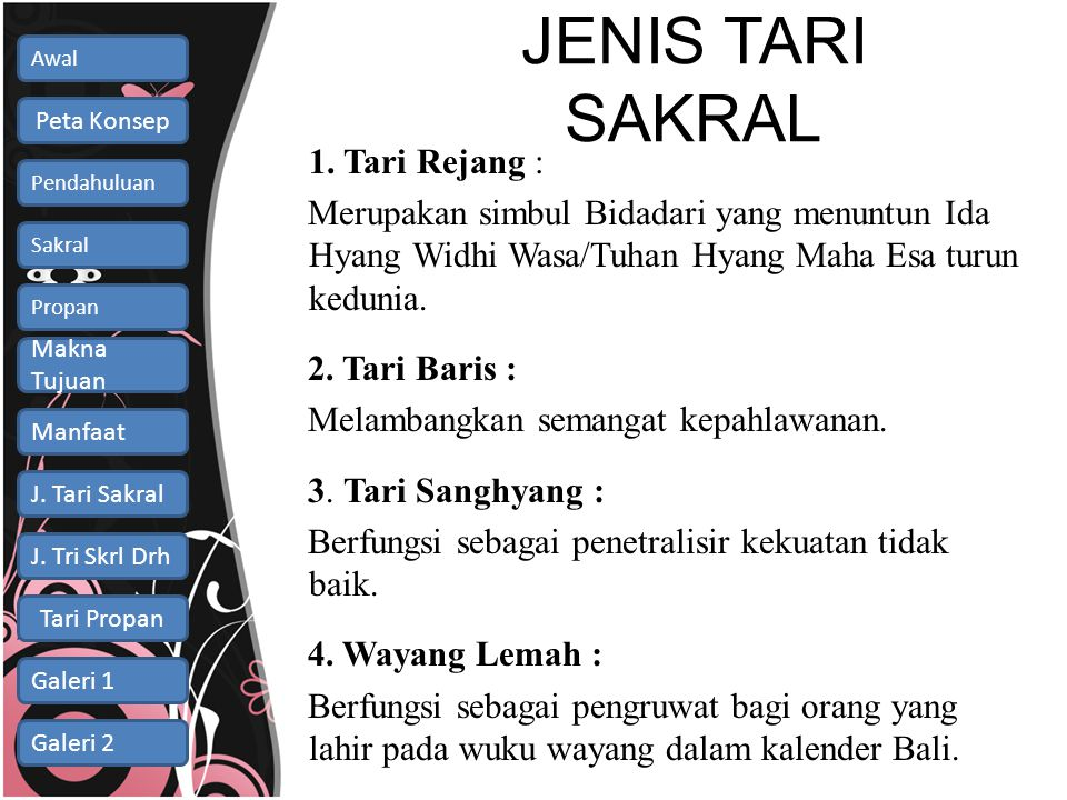 JENIS TARI SAKRAL