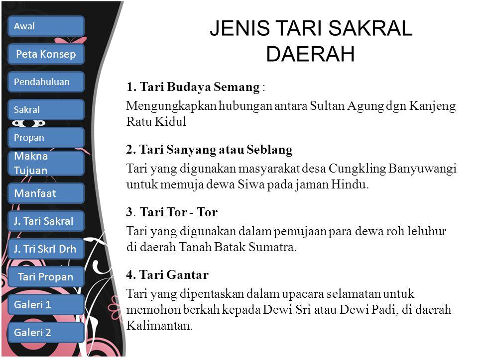 JENIS TARI SAKRAL DAERAH