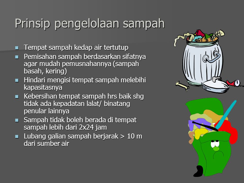 Prinsip pengelolaan sampah
