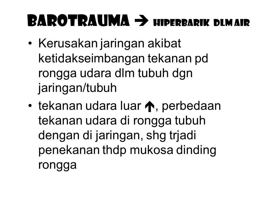 BAROTRAUMA  hiperbarik dlm air