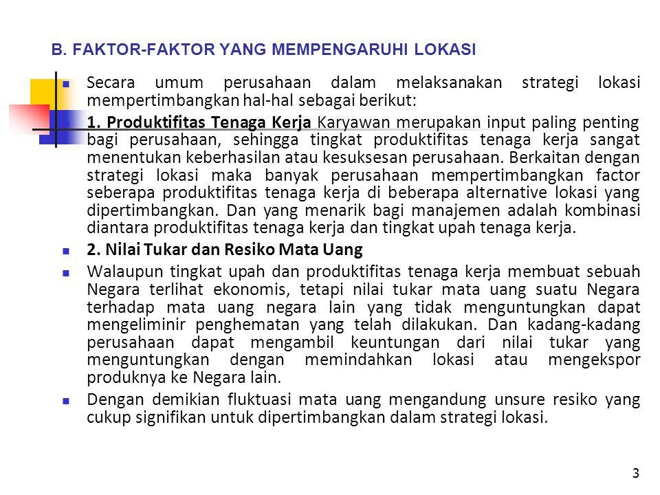 B. FAKTOR-FAKTOR YANG MEMPENGARUHI LOKASI