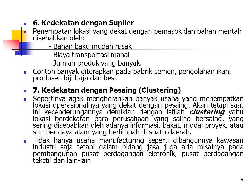 6. Kedekatan dengan Suplier