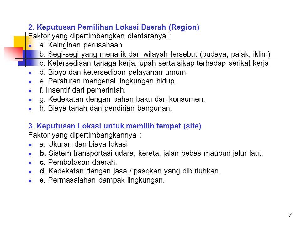 2. Keputusan Pemilihan Lokasi Daerah (Region)