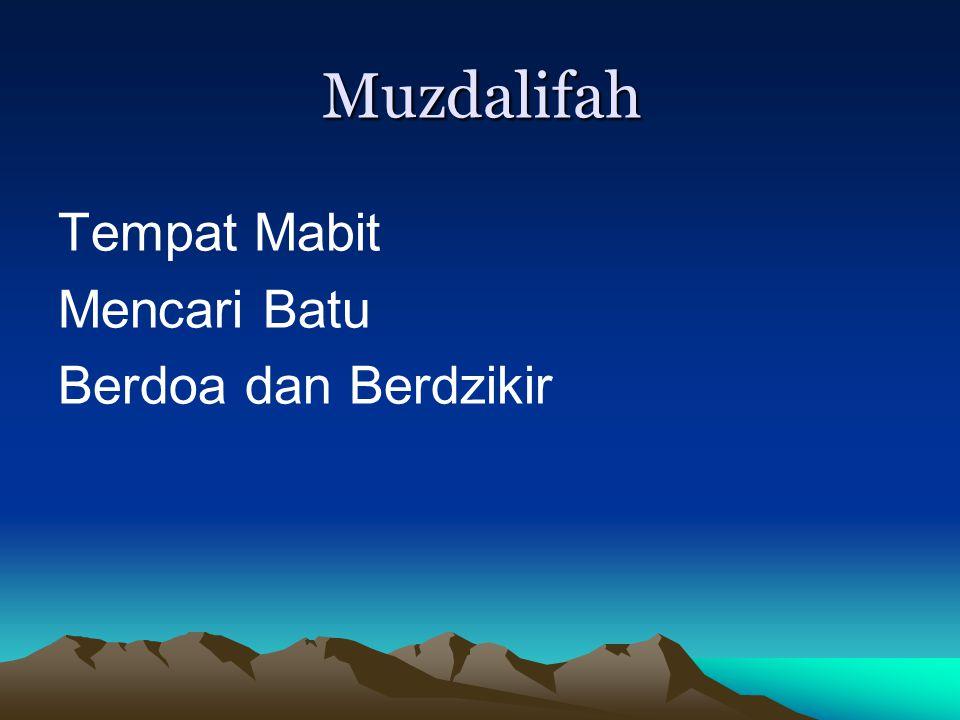 Muzdalifah Tempat Mabit Mencari Batu Berdoa dan Berdzikir