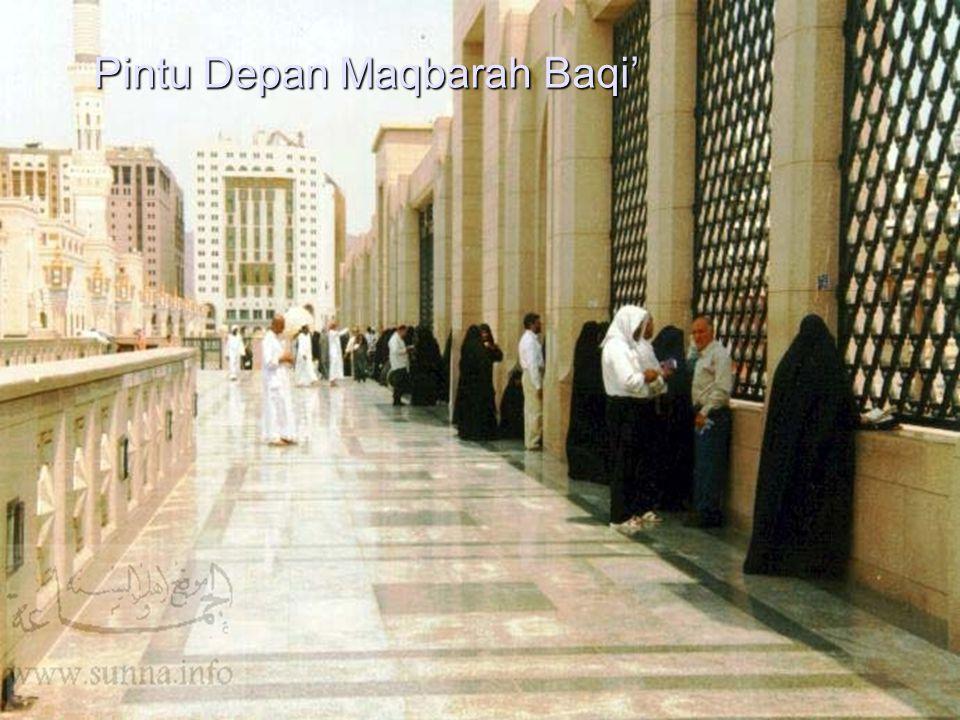 Pintu Depan Maqbarah Baqi'