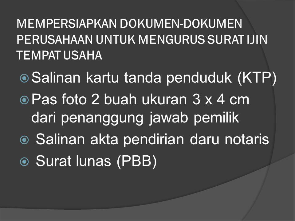 Salinan kartu tanda penduduk (KTP)