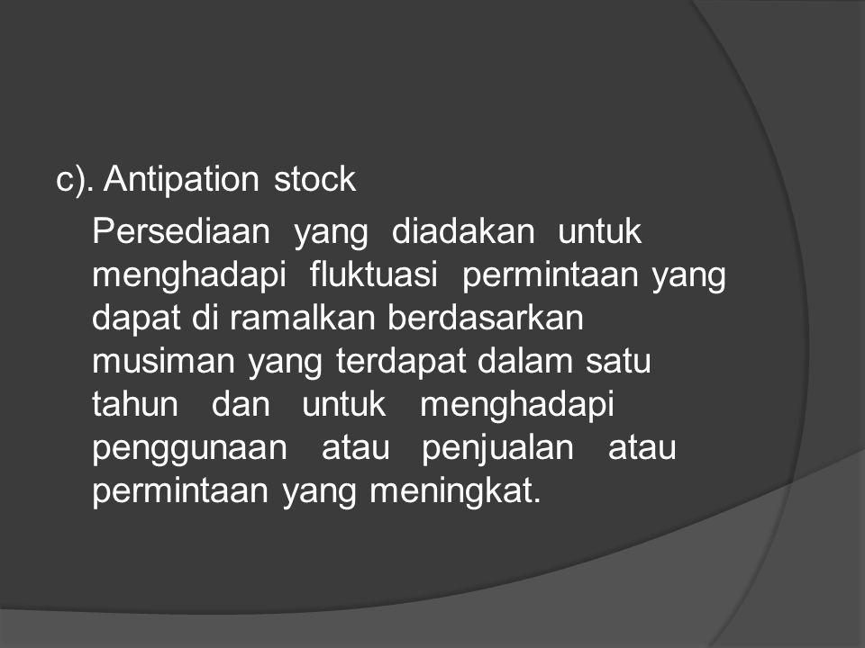 c). Antipation stock
