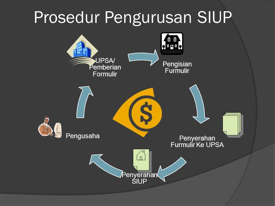 Prosedur Pengurusan SIUP