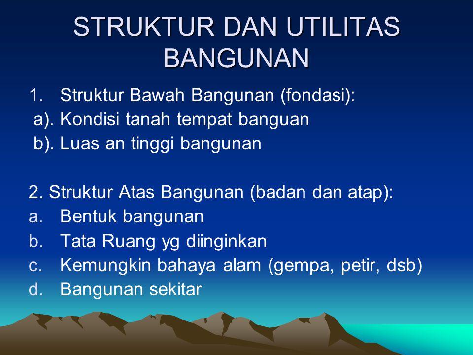 STRUKTUR DAN UTILITAS BANGUNAN
