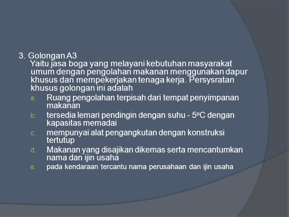 3. Golongan A3