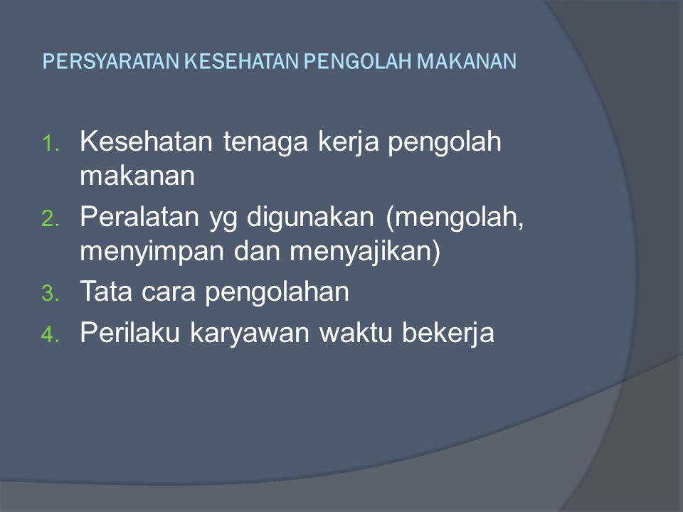 PERSYARATAN KESEHATAN PENGOLAH MAKANAN
