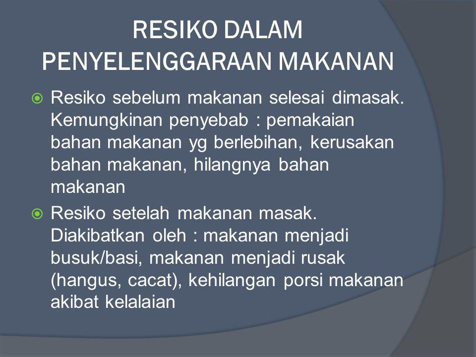 RESIKO DALAM PENYELENGGARAAN MAKANAN