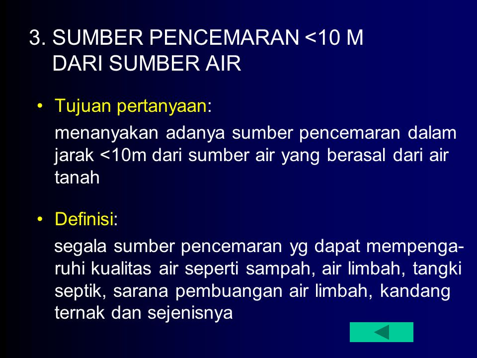 3. SUMBER PENCEMARAN <10 M DARI SUMBER AIR