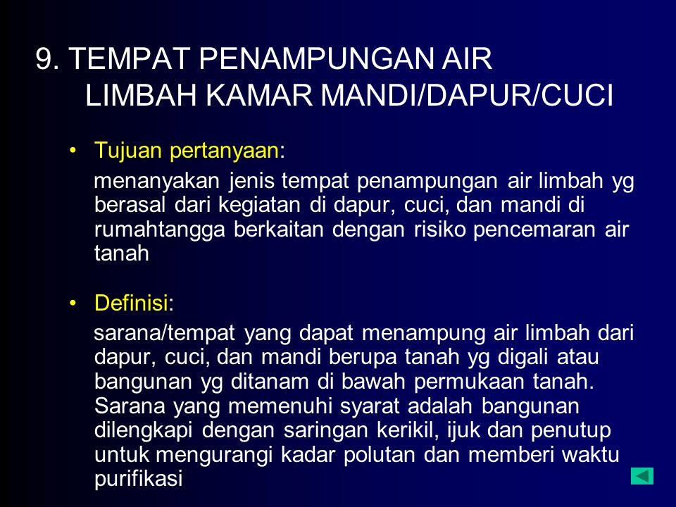 9. TEMPAT PENAMPUNGAN AIR LIMBAH KAMAR MANDI/DAPUR/CUCI