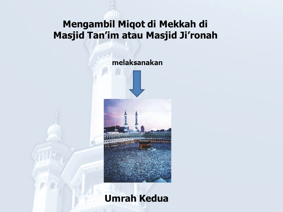 Mengambil Miqot di Mekkah di Masjid Tan'im atau Masjid Ji'ronah