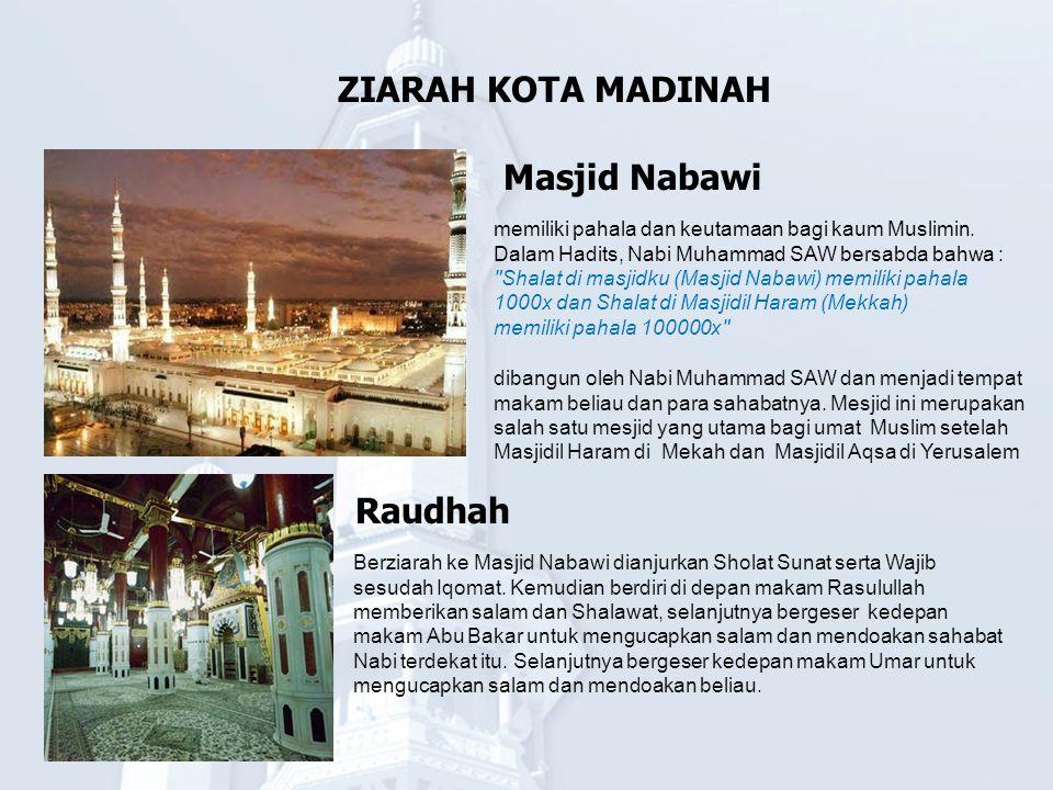 ZIARAH KOTA MADINAH Masjid Nabawi Raudhah