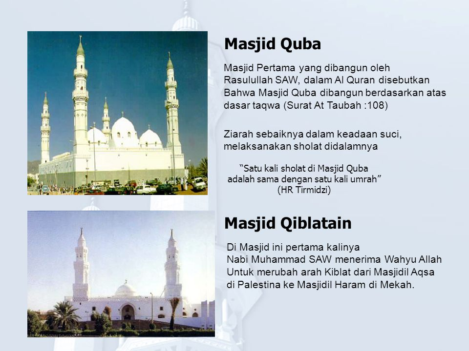 Masjid Quba Masjid Qiblatain