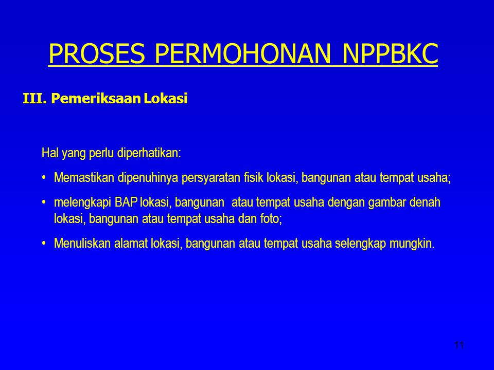 PROSES PERMOHONAN NPPBKC