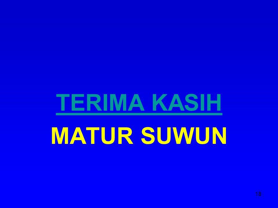TERIMA KASIH MATUR SUWUN