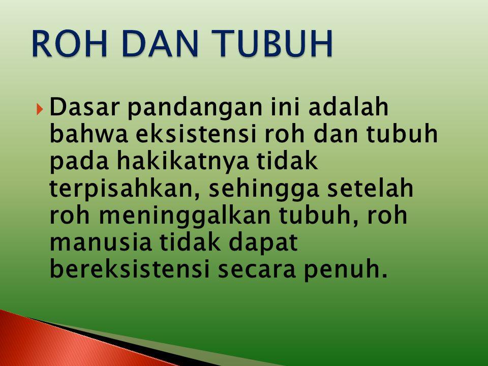 ROH DAN TUBUH