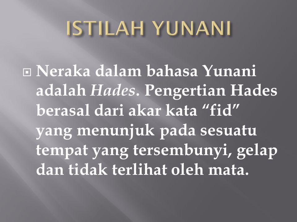 ISTILAH YUNANI