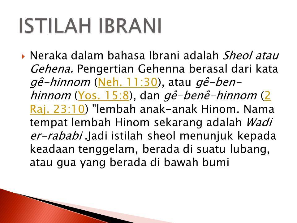 ISTILAH IBRANI